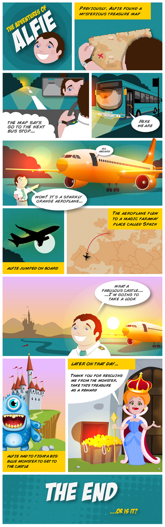 ARRIVA BUSES - The Adventures of Alfie comic strip